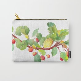 Autumn crab apple tree branch - watercolour Carry-All Pouch