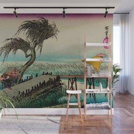 Yokkaichi - Vintage Japanesse Ukiyo e Art Wall Mural