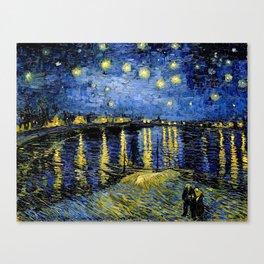 Van Gogh Starry Night Over the Rhône Canvas Print