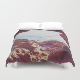 Waiting by the Sea Duvet Cover