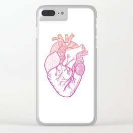 Designer Heart Clear iPhone Case
