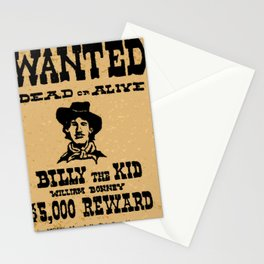 Wanted Dead or ALive Stationery Cards
