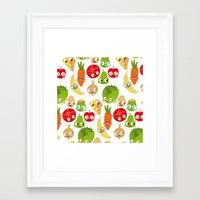 food Framed Art Prints featuring Food by Peerro