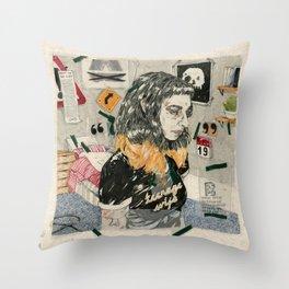 Teenage wife Throw Pillow