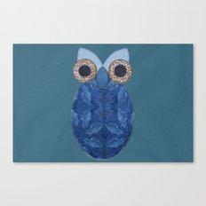 The Denim Owl #02 Canvas Print