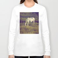 horses Long Sleeve T-shirts featuring Horses by Pedro Antunes