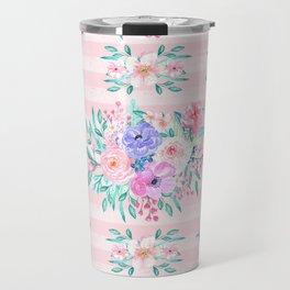 Beautiful watercolor garden floral paint Travel Mug