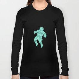 Astronaut Floating in Space Drawing Long Sleeve T-shirt