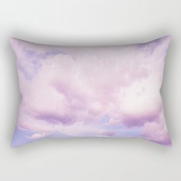 Pink Clouds In The Blue Sky #decor #society6 #buyart Rectangular Pillow