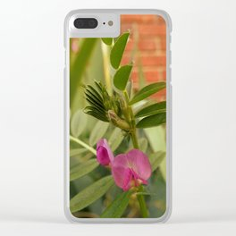 Small Sweet Pea Clear iPhone Case