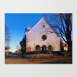 The village church of Klaffer I   architectural photography Canvas Print