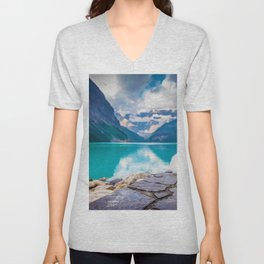 Wolf in Paradise (Color) Unisex V-Neck