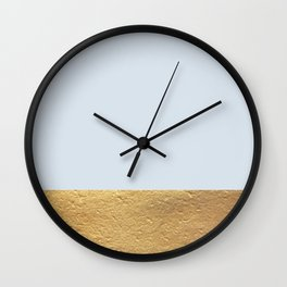 Color Blocked Gold & Periwinkle Wall Clock