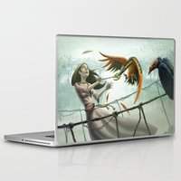 snatch Laptop & iPad Skins featuring Birds in Chase by Ryan James Art