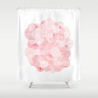 bruno mars Shower Curtains featuring Fireworks by Marcelo Romero