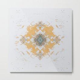 Gold Minimalist Mandala Metal Print