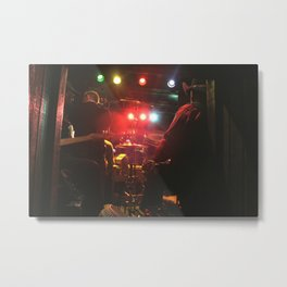 Back stage BLUES Chicago Metal Print