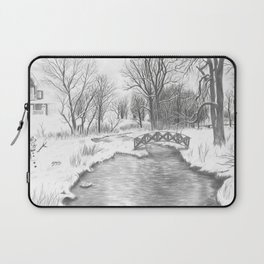 Snowy Landscape Laptop Sleeve