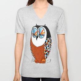 Beautiful Owl Unisex V-Neck