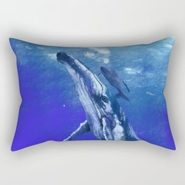 Whale with baby Rectangular Pillow