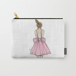 Little fashionista - Pink Dress Carry-All Pouch