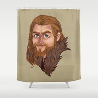 fili Shower Curtains featuring Fili - Dean O'gorman  by Blanca Limón