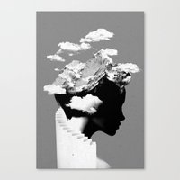 hat Canvas Prints featuring It's a cloudy day by Robert Farkas