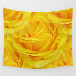 Modern Abstract Seamless Yellow Rose Petals Wall Tapestry