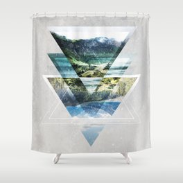 Mirror lake Shower Curtain