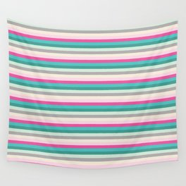 Fun Colored Stripes 1 Wall Tapestry