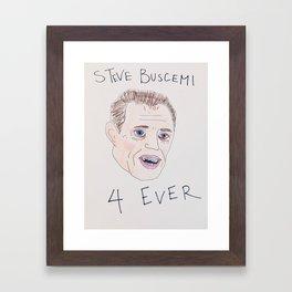Steve Buscemi With Braces Framed Art Print