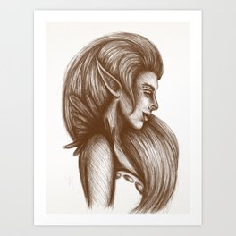 Elven Girl Art Print