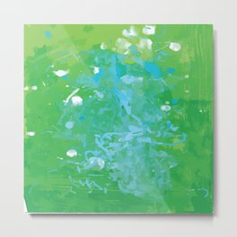 Elegant Greens Adorned with Blues and White (August 31) Metal Print