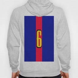 football team 1 number six Hoody