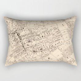 Vintage Map of Flushing NY (1894) Rectangular Pillow