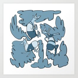 Fashion Po-Nays Blue Art Print