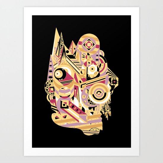 EL BARTO ~ BLACK Art Print