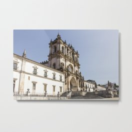Facade of Alcobaça Monastery in Portugal. Metal Print