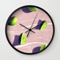 fruit Wall Clocks featuring fruit 10 by LEEMO