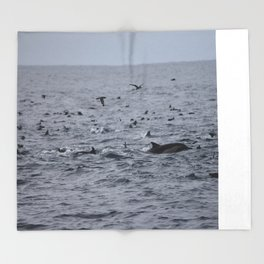 Dolphins & Birds Throw Blanket