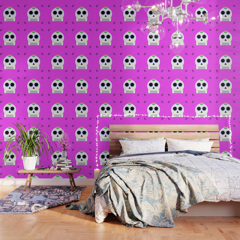 Sugar Skull Wallpaper By Damek Society6