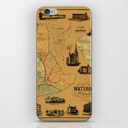 Map Of Waterbury 1852 iPhone Skin