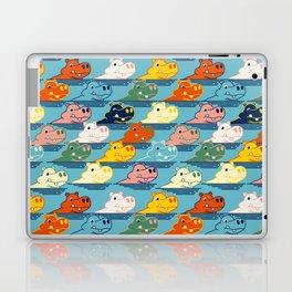 Happy Hippo Family Laptop & iPad Skin