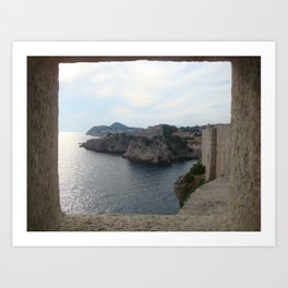 Through the Dubrovnik wall Art Print