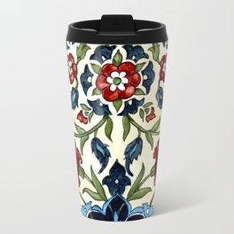 Tile with Carnations Travel Mug