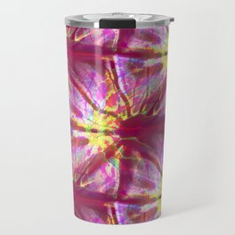 Fractal Abstract - Berry Colored Travel Mug