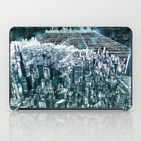 chicago map iPad Cases featuring chicago by Bekim ART