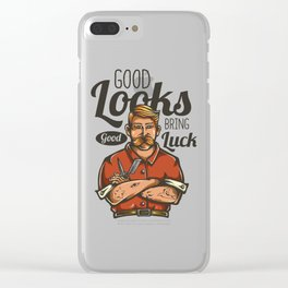 Good Looks - Good Luck Clear iPhone Case