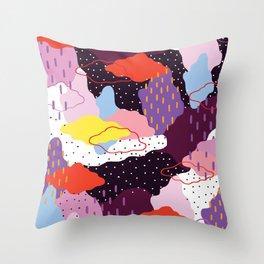 Purple Winter Throw Pillow