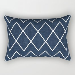 Avoca in Navy Rectangular Pillow
